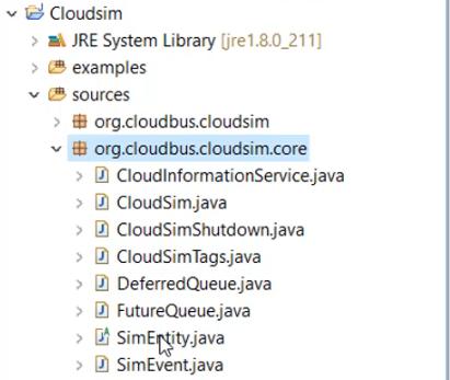 Class list of org.cloudbus.cloudsim.core