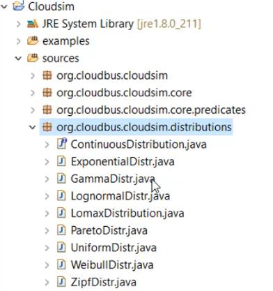 Class list of Org.cloudbus.cloudsim.distribution